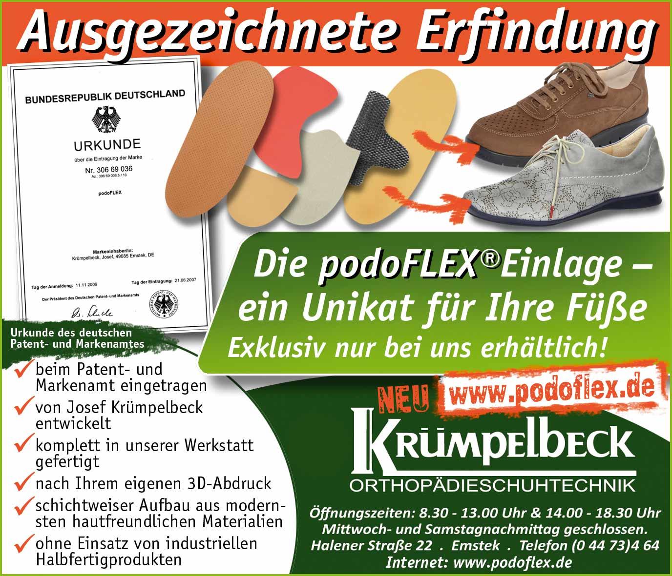 Podoflex Einlage der Firma Krümpelbeck Emstek